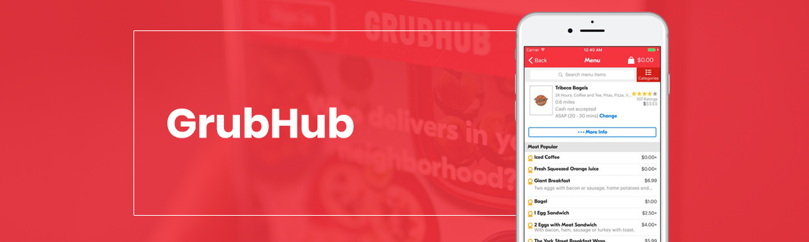 Grubhub Food Delivery App