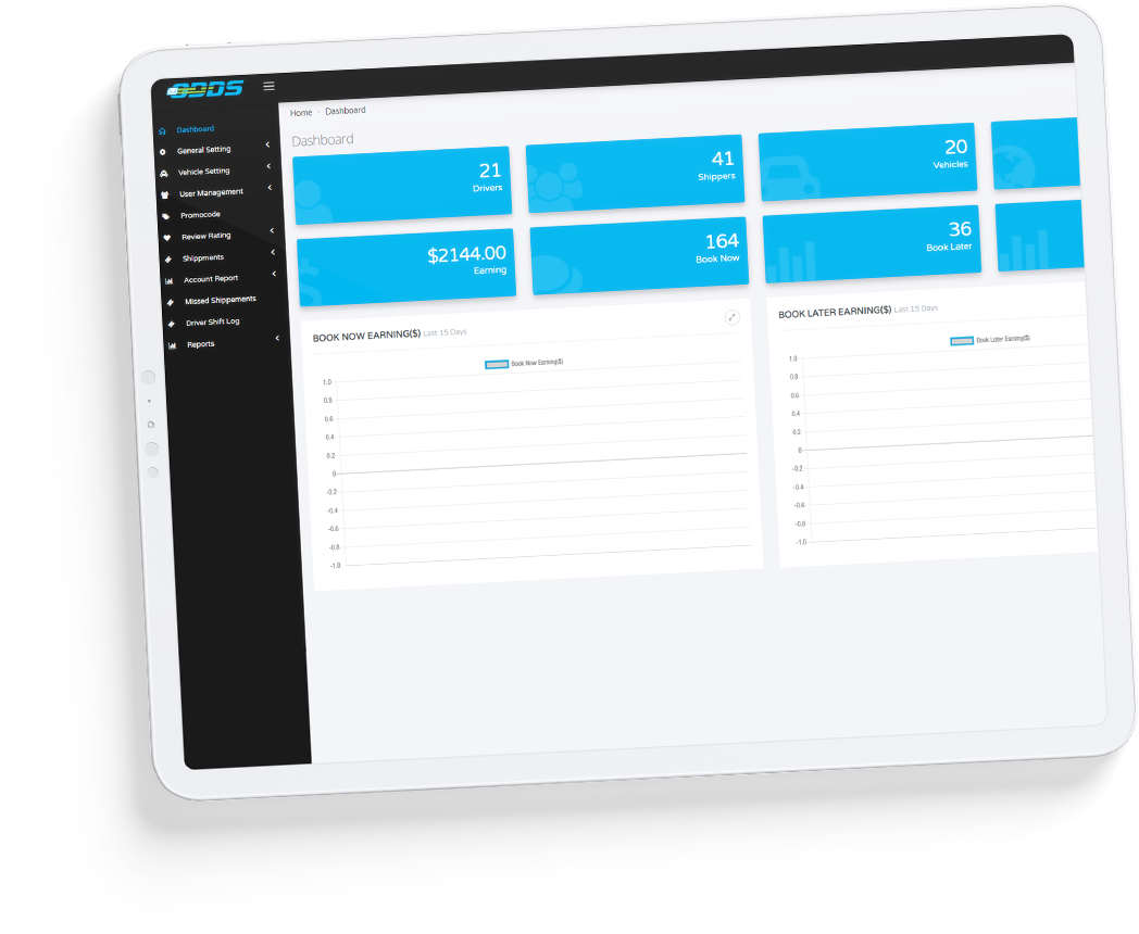 Logistics App Dashboard