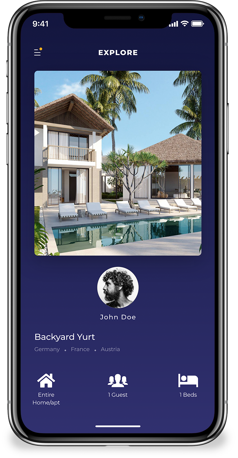 best vacation rental script home screen