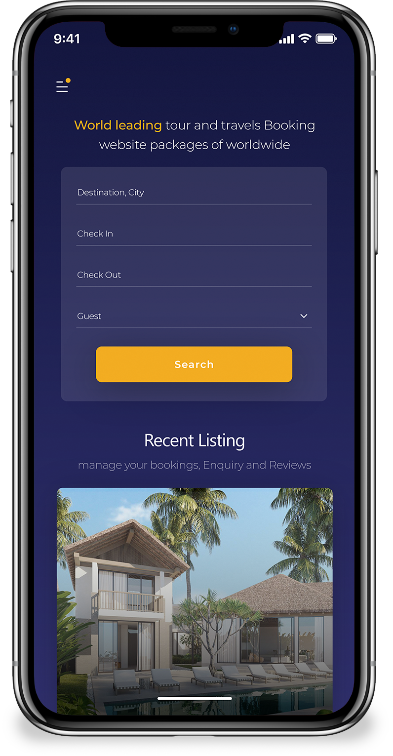 best selling airbnb clone listing screen