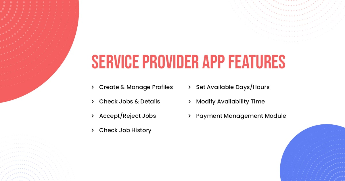 Handy Professional App Features