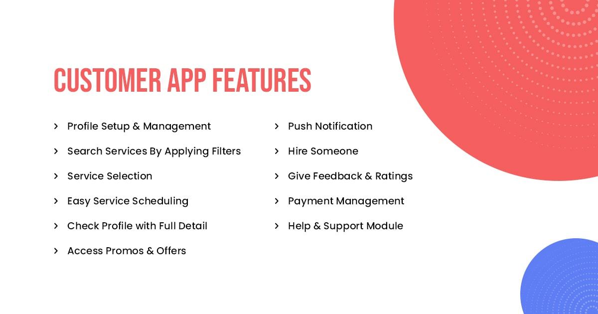 TaskRabbit Customer App Features