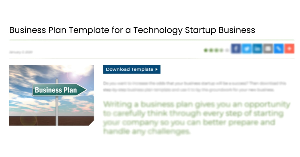 Startup business plan template by Score