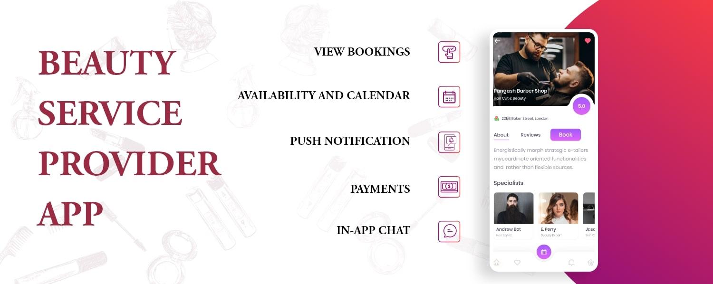 Beauty service provider app