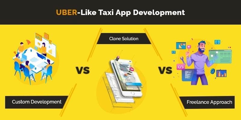 3 Taxi App Development Approaches